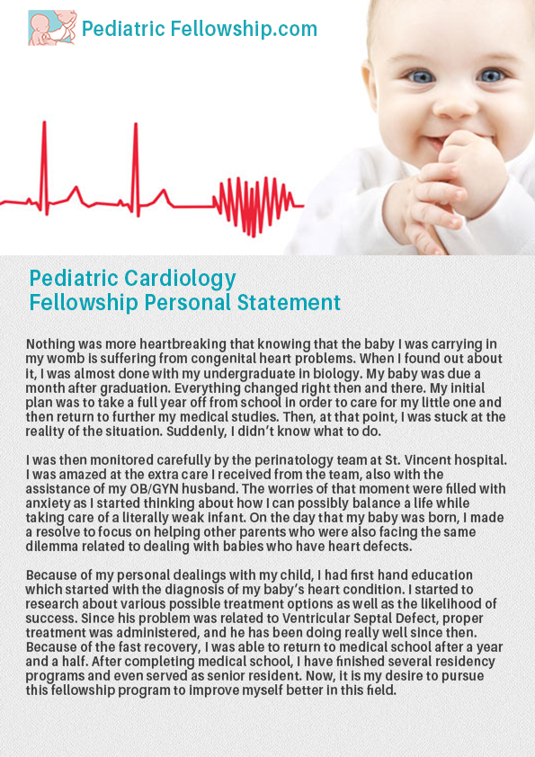 Buy	personal statement for cardiology fellowship sample