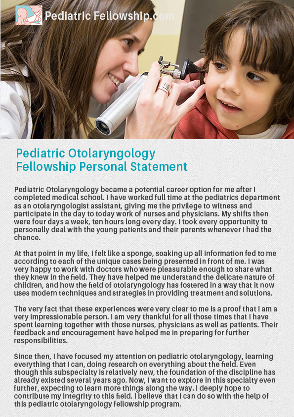 pediatric hematology oncology fellowship personal statement Application information the division of pediatric hematology/oncology welcomes applicants for our fellowship program we participate in the national resident.