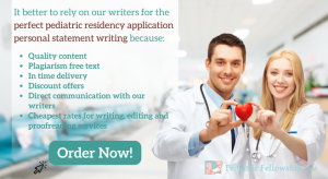 writing pediatric personal statement for residency